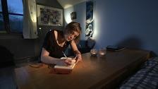 Mair Elliott writing a diary sequence