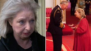 Hilary Mantel defends Kate comments as she receives damehood from Prince Charles