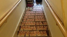 Police found a photograph of cash lining the stairs in Jordan McDonald's home.