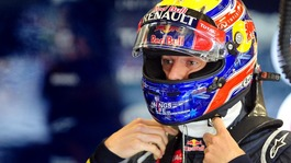 Red Bull Racing's Mark Webber in the pits during the third practice session of the British Grand Prix at Silverstone Circuit, Silverstone.