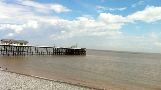Penarth beach and pier
