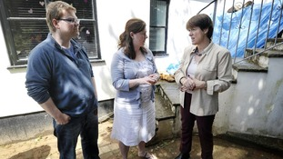 Environment secretary Caroline Spelman meets local residents in Devon