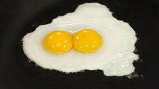 Double yolkers: Shop launches 'guaranteed' egg range.