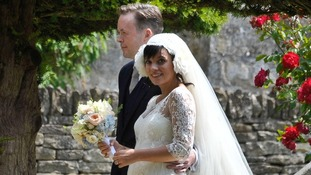 Lily Allen and husband Sam Cooper on their wedding day