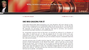Lawyer criticised for 'She Was Gagging For It' blog