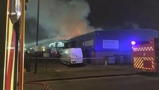 Rainham industrial site fire