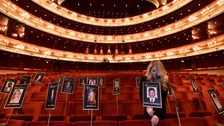The Royal Opera House is being prepared for tonight's Baftas.