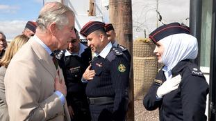Prince Charles meets Syrian refugees in Jordan