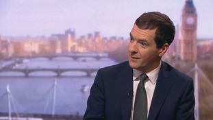 George Osborne on the BBC's Andrew Marr Show.
