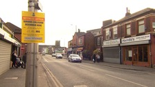 The woman was knocked down on Leigh Road