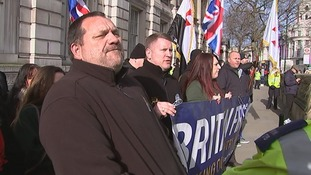 Members of Britain First in Whitehalll