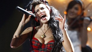 Amy Winehouse performing in 2008.