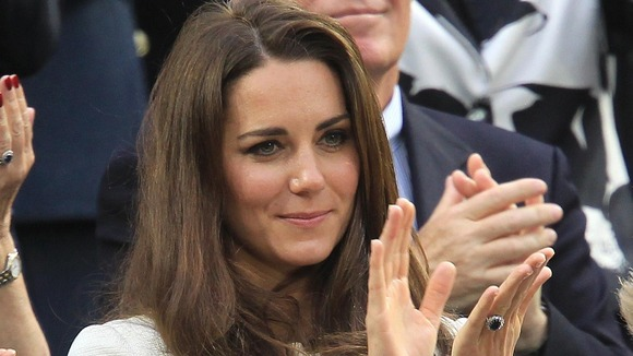 The Duchess of Cambridge, Catherine Middleton, shows her support after Murray's loss
