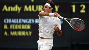 Champion Roger Federer during his four set victory over Andy Murray