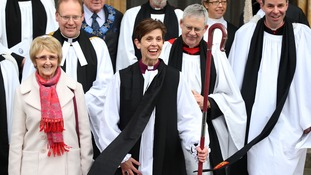 The Rev Libby Lane after a service at York Minster.
