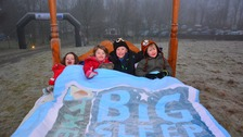 Some youngsters all set for the Big Sleep