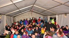 More than 300 people took part in the Big Sleep