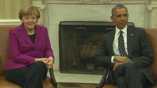 German Chancellor Angela Merkel and US President Barack Obama.