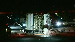 Moment Las Vegas hotel is demolished