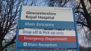 Gloucestershire Royal Hospital has closed several wards.