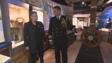 Captain David Stracener of the US Navy (right) at the Beacon Museum