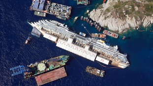 Efforts to right the Costa Concordia were only completed last year.