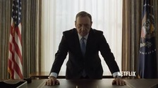 House of Cards stars Kevin Spacey as scheming President Frank Underwood