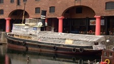 The Daniel Adamson moored at Liverpool's Albert Dock.