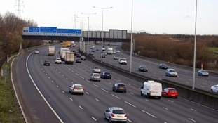 The M25 motorway near Heathrow Airport