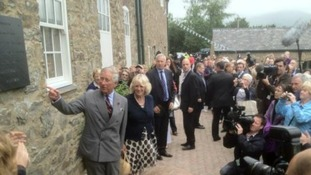 Prince Charles unveils a plaque