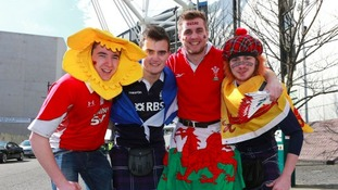 Clash of the Celts: Thousands of Welsh fans descend on Edinburgh