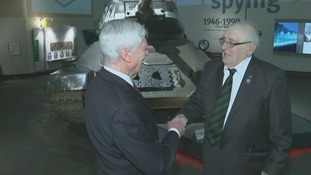 Bomber Command veteran Frank Tolly meets former prisoner of war Victor Gregg.