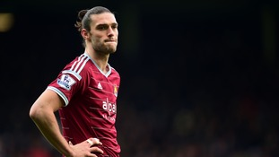 West Ham striker Andy Carroll 'ruled out for the rest of the season with knee ligament damage'