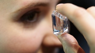 The 100-carat diamond is in London for a one-day viewing.