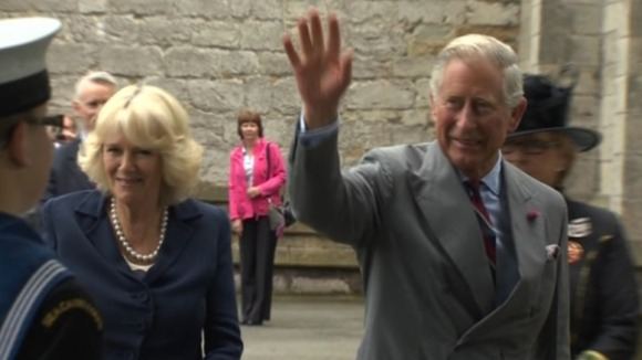 Prince Charles and Camilla at St Asaph Cathedral