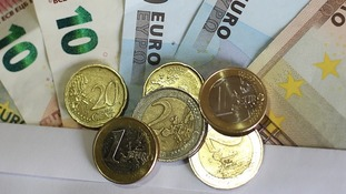 The exchange rate is now just below 1.35 Euros to a pound.