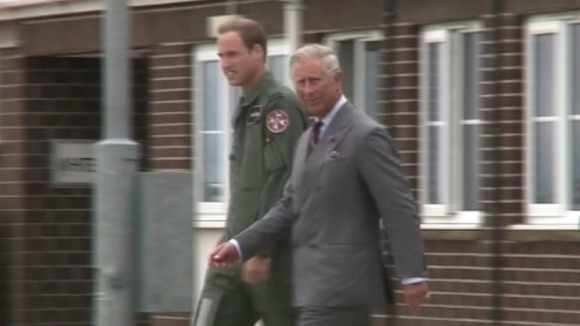 Prince Charles and Prince William at RAF Valley
