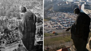 Dresden in 1945 (L) and 2015 (R)