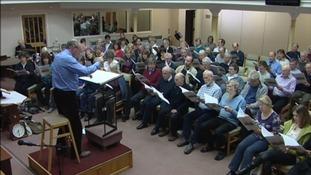 Choir practising