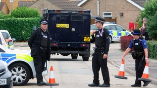 Police seal off an area of Clacton