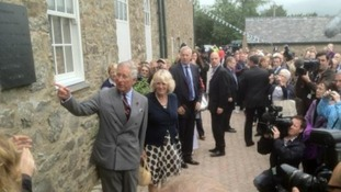 Prince Charles and the Duchess of Cornwall at Bodnant