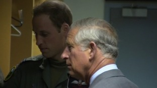 Prince William and Prince Charles at RAF Valley