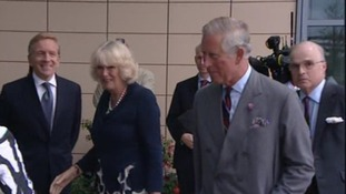 Prince Charles and the Duchess of Cornwall in Aberystwyth