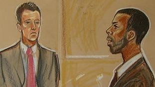 An artist's impression of John Terry and Anton Ferdinand in court today