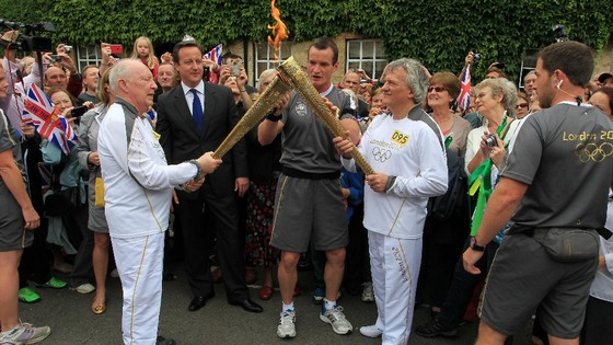 Cameron and torch