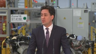Miliband launched Labour's plan at Jaguar Land Rover's plant in Wolverhampton.