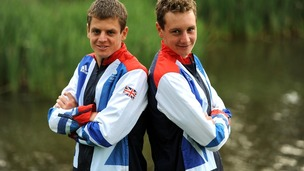 Great Britain's Jonathan Brownlee (left) and Alistair Brownlee (right)