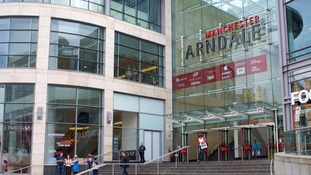The Arndale Centre in Manchester is believed to have been one of the targets.