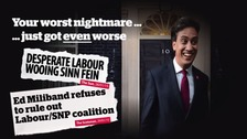 Still from a Conservtaive Party video entitled 'The SNP and Sinn Fein propping up Ed Miliband? Chaos for Britain'.