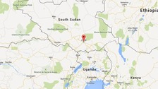 A map showing Juba, the capital city of South Sudan.